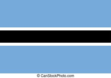 Flag of Botswana in official colors and proportions, vector image.