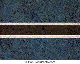 Flag of Botswana on rusty metal