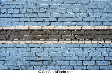 Flag of Botswana painted on brick wall, background texture