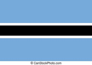 Flag of Botswana Vector illustration eps 10.