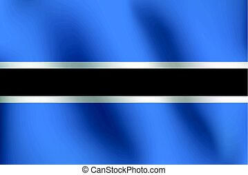 Flag of Botswana - Vector Illustration