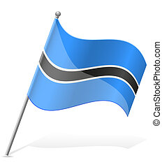 flag of Botswana vector illustration