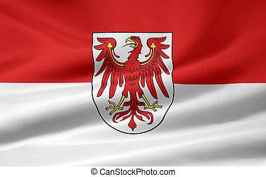 Flag of Brandenburg - Germany - High resolution flag of...