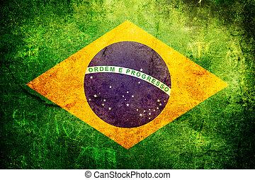 An old grunge flag of Brasil state