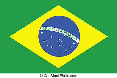 3d Computer generated Graphic of a Brazilian Flag