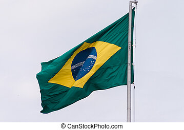 Flag of Brazil at Iguacu
