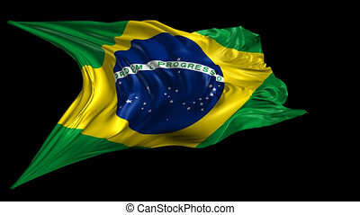 Flag of Brazil - Beautiful 3d animation of Brazil flag with...