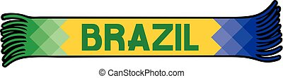 Flag of Brazil colors scarf