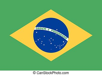 Flag of Brazil in correct proportions and colors