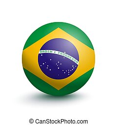 Flag of Brazil in the form of a ball