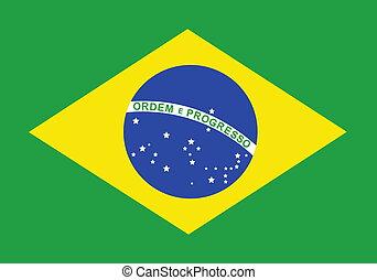 Flag of Brazil, national country symbol illustration