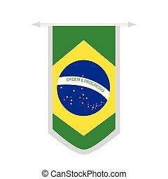 Flag of Brazil on a banner