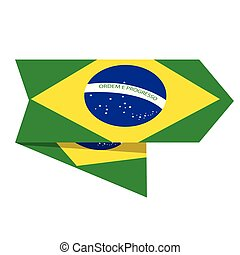 Flag of Brazil on a label