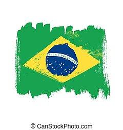 Flag of Brazil on a white background.