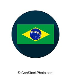 Flag of Brazil on a white background. Vector illustration.