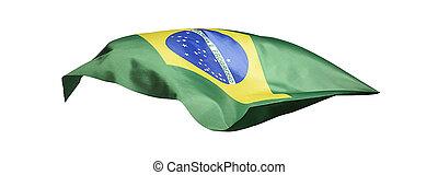 Flag of Brazil on white background