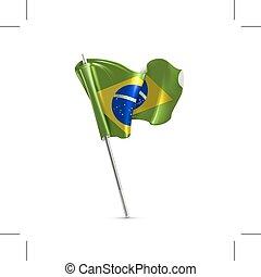 Flag of Brazil on white