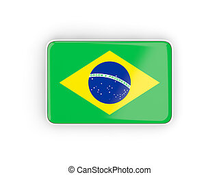Flag of brazil, rectangular icon
