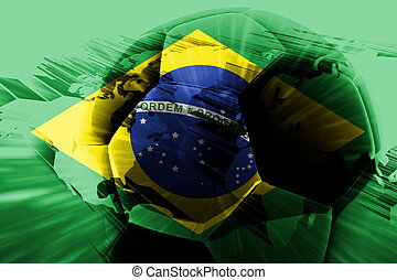Flag of Brazil soccer