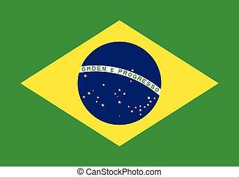 Flag of Brazil vector illustration