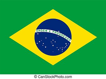 Flag of Brazil Vector illustration eps 10