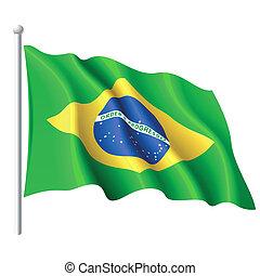 Vector illustration of flag of Brazil