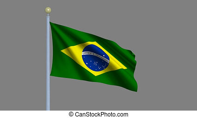 Flag of Brazil with alpha matte