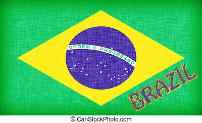 Flag of Brazil with letters