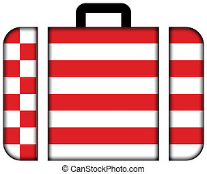 Flag of Bremen. Suitcase icon, travel and transportation concept