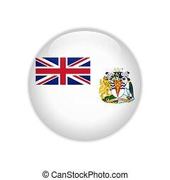 Flag of British Antarctic Territory button