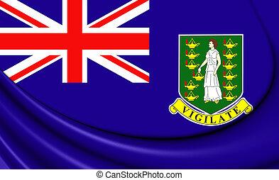 Flag of British Virgin Islands. 3D Illustration.