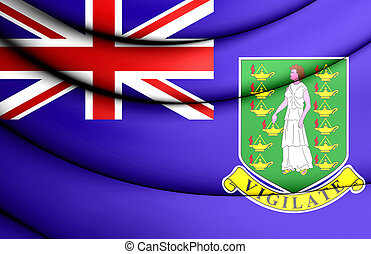 Flag of British Virgin Islands. 3D Illustration.