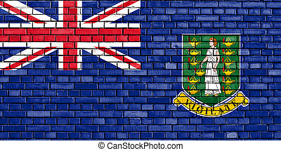 flag of British Virgin Islands painted on brick wall