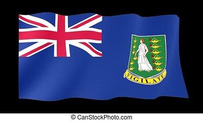 Flag of British Virgin Islands. Waving flag