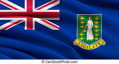 Flag of British Virgin Islands waving in the wind