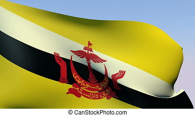 Flag of Brunei - Flags of the world collection - Brunei