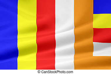 Flag of Buddhism - High resolution flag of the buddhist...