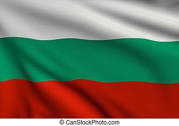 3d illustration flag of Bulgaria