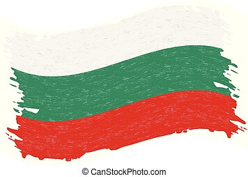 Flag of Bulgaria, Grunge Abstract Brush Stroke Isolated On A White Background. Vector Illustration.