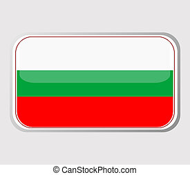 Flag of bulgaria in the form