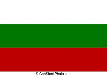 Official flag of Bulgaria nation