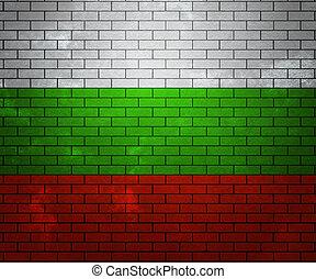 Flag of Bulgaria on Brick Wall