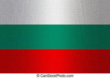 Flag of Bulgaria on stone
