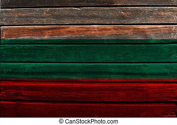 Flag of Bulgaria on wood