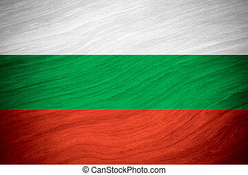flag of Bulgaria or Bulgarian banner on abstract background