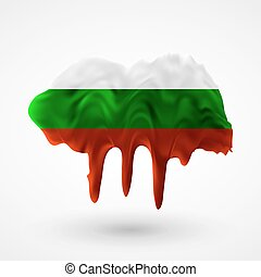 Flag of Bulgaria painted colors