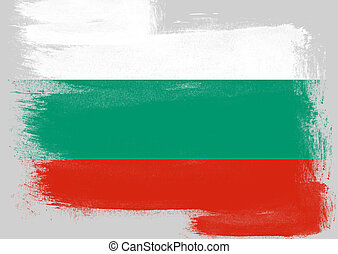 Flag of Bulgaria painted with brush