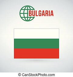 flag of bulgaria vector illustration isolated on modern background with shadow.