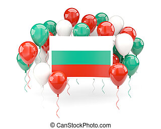Flag of bulgaria with balloons