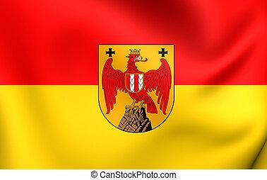 Flag of Burgenland, Austria. Close Up.